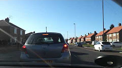 Driving in the UK. Forest Hall to Whitley Bay. Newcastle upon Tyne