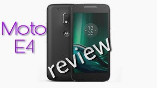Moto E4 full specification and review