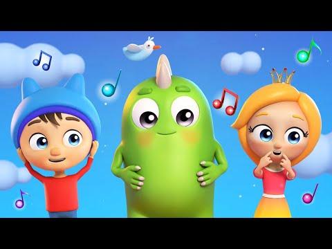 Песенки для детей Сина и Ло. Учим части тела. Музыкальные мультики для малышей