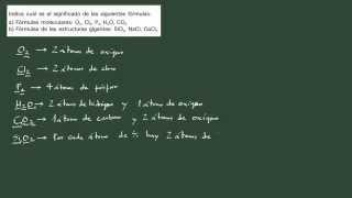 8. Cantidad química 8. Ejercicio: interpretación de la fórmula empírica y la molecular.