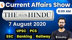 8:00 AM - Daily Current Affairs 2020 by Bhunesh Sharma | 7 August 2020 | wifistudy
