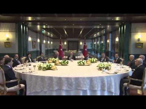Yasama, Yürütme ve Yargı Organlarının Başkanları Cumhurbaşkanlığı Külliyesi'nde