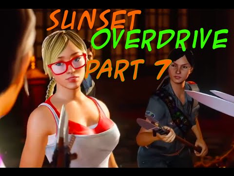 Sexy sunset overdrive character