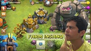FARMANDO NO CENTRO DE VILA 12 DO CLASH OF CLANS