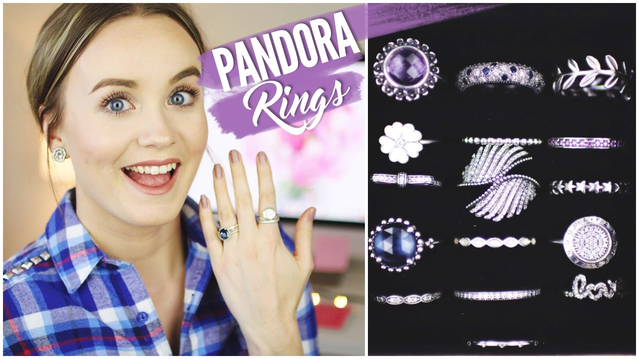 5cc293d7e Pandora Rings Collection || How I Style/Stack Pandora Rings - YouTube