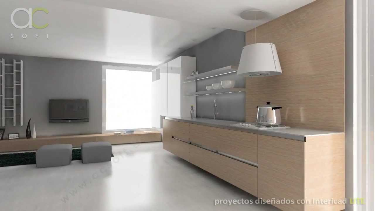 Cocinas en 3D con Intericad LITE - YouTube