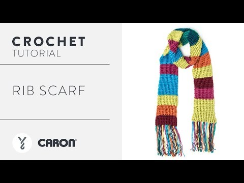 How To Crochet A Rib Scarf