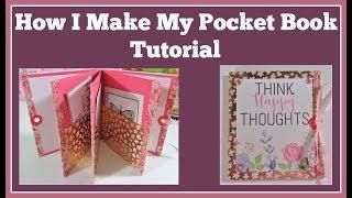 How I Make My Pocket Book Card Tutorial 🌺 Easy Diy