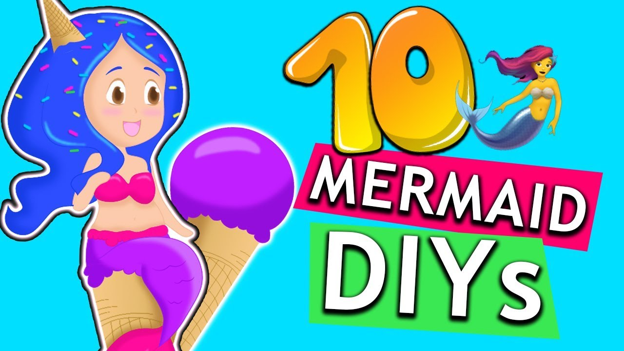 10 diy mermaid ideen meerjungfrau diys zum nachmachen ideen gegen langeweile diy kids. Black Bedroom Furniture Sets. Home Design Ideas