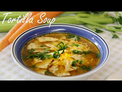 Quick & Easy Veg Tortilla Soup Recipe