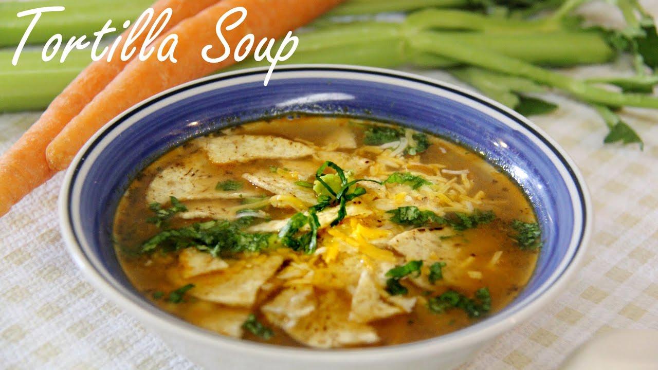 Vegetarian Soup Recipe Tortilla Soup Quick Amp Easy Veg
