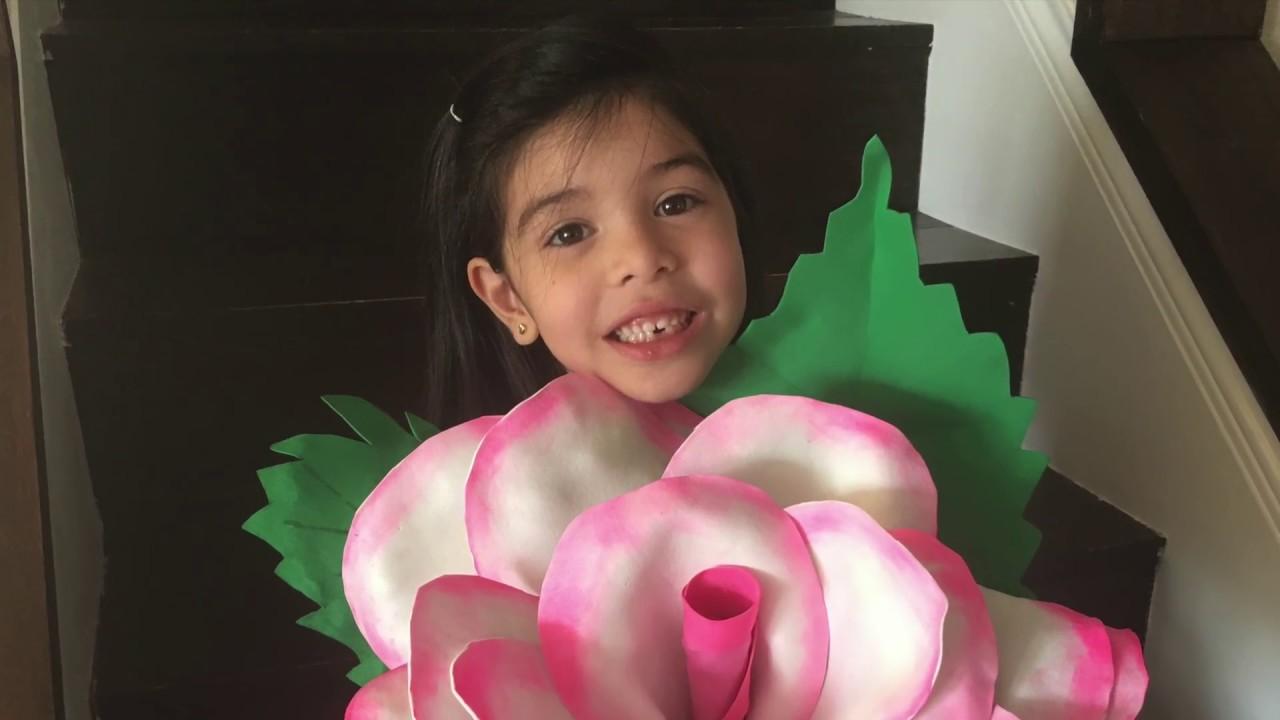 Rosa gigante de Goma Eva/Día de las madres - YouTube