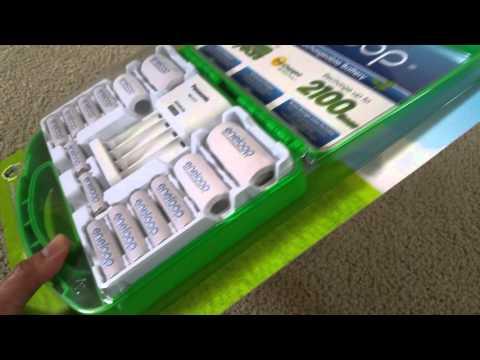 Latest Panasonic Eneloop Rechargeable NiMH Batteries 2100x Unboxing (Japan) 2016