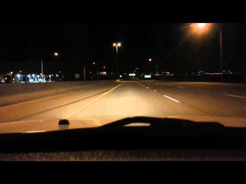 Phx international airport drive through (galaxys s3 night sample video)