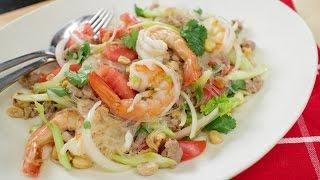 Yum Woon Sen Recipe (glass noodle salad 2.0) ยำวุ้นเส้น - Hot Thai Kitchen!