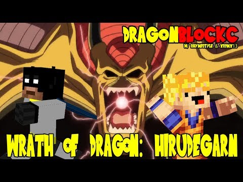 Dragon Block C w/ xRpMx13 - Wrath of Dragon! Hirudegarn Attacks (DBZ Minecraft)