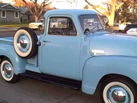 Used Chevy Trucks For Sale >> 1951 Chevy truck with stovebolt 235 - YouTube