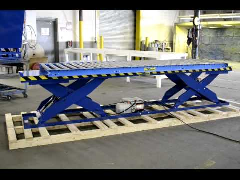 Verti Lift Tandem Scissor Lift Table With Conveyor Youtube