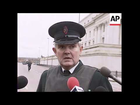 NORTHERN IRELAND: BELFAST: IRA LAUNCH ROCKET ATTACK ON COURTS