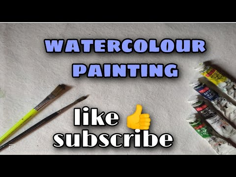 watercolour scenery painting for beginners.