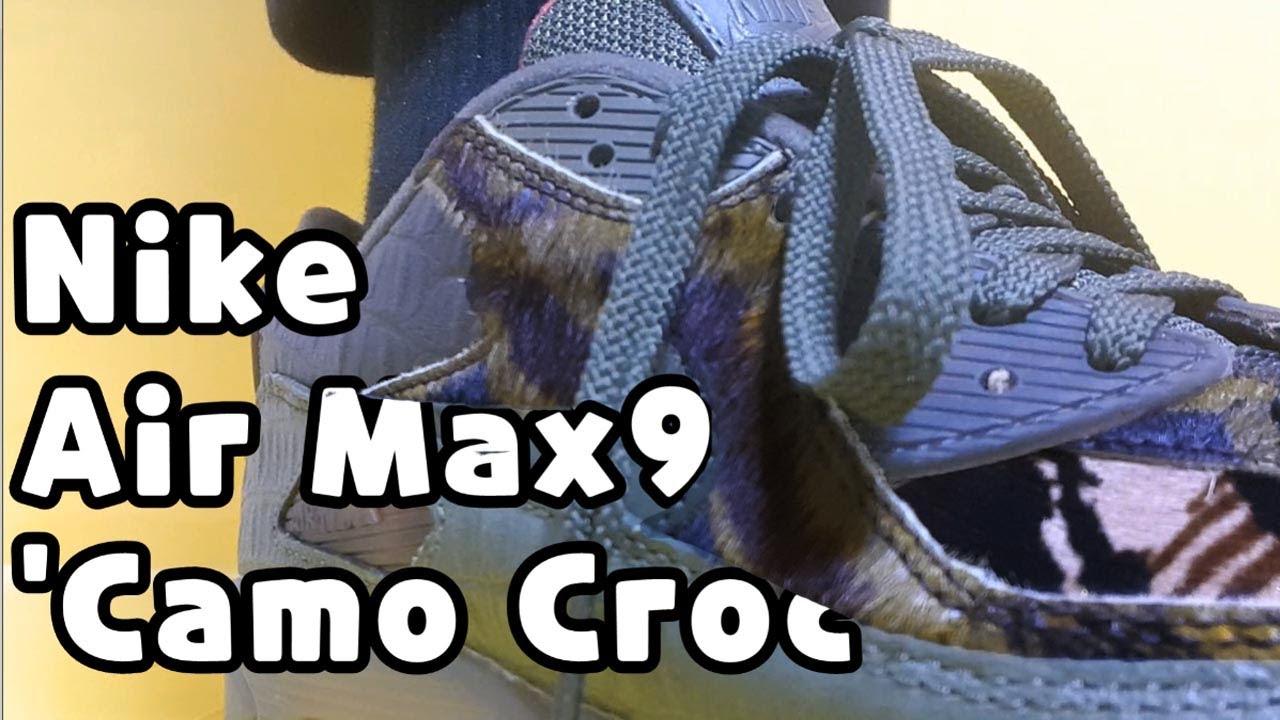 "Nike Air Max 90 ""Croc Camo' unboxingNike Air Max 90 animal reviewNike Air Max 90 sizing"