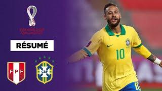 Résumé : Le triplé de Neymar offre la victoire au Brésil face au Pérou