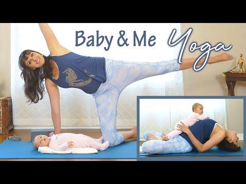Gentle Baby & Me Yoga to Rebuild the Pelvic Floor Postpartum, Full Body Stretch, 4th Trimester