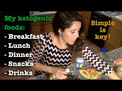 Ketogenic meals: what I usually eat. Breakfast, lunch, dinner, snacks & drinks.