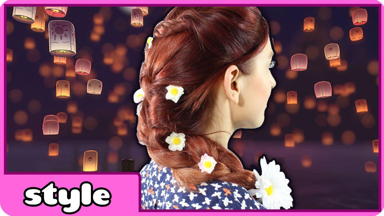Tangled Hairstyles Rapunzel Hair Tutorial Braid Tutorial By Hooplakidz Style Youtube
