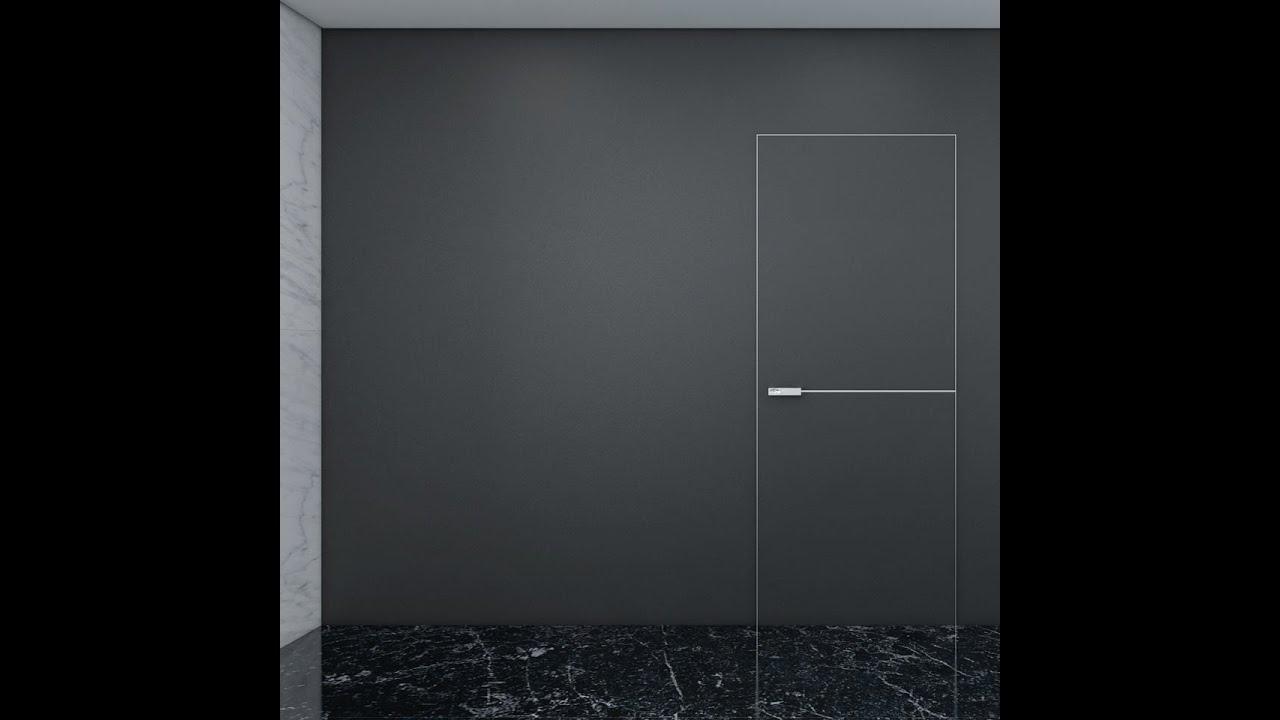 Двери скрытого монтажа с системой AGS systems (Italy) - YouTube