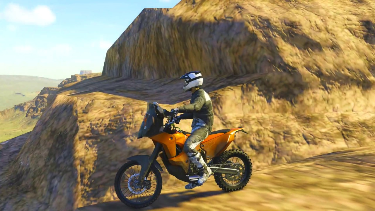 the crew wild run ps4 epic route on the volcano with this dakar bike youtube. Black Bedroom Furniture Sets. Home Design Ideas