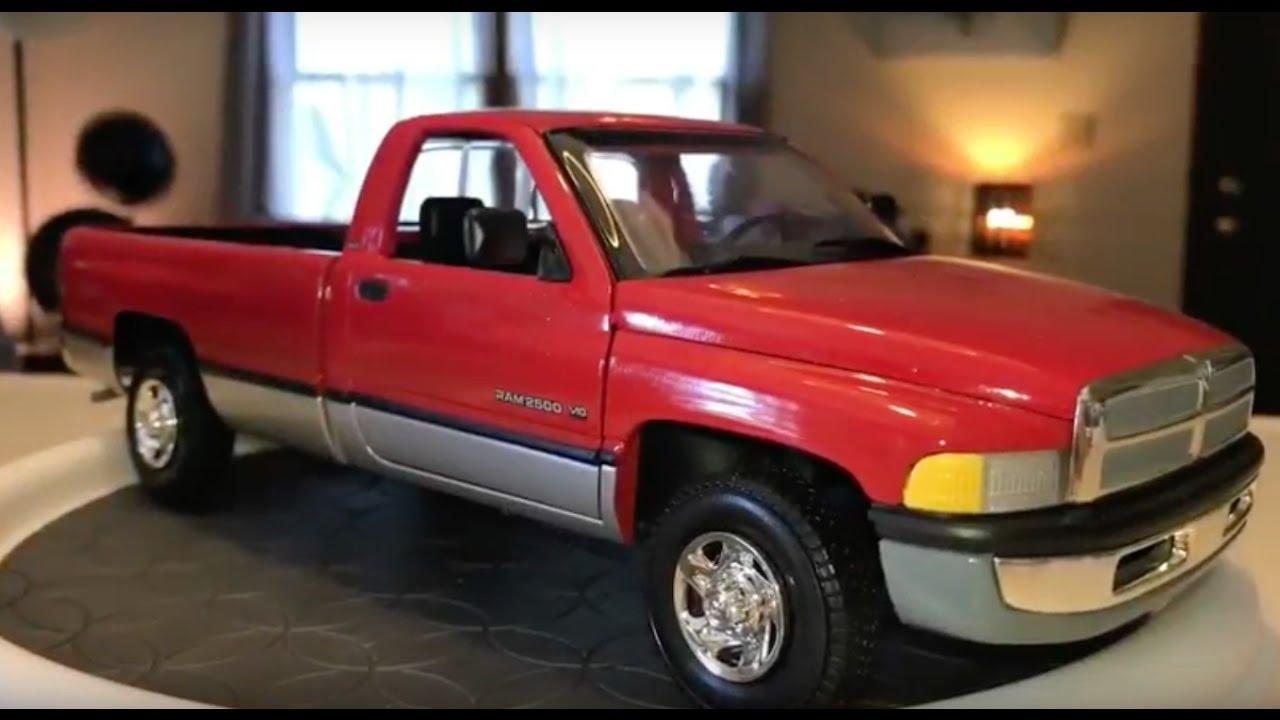 118 Scale AMT Ertl 1996 Dodge Ram 2500 Laramie SLT V10 4X2  YouTube