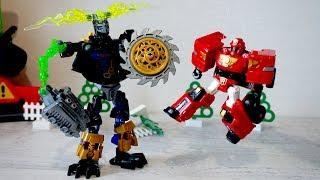 Тоботы и Робот - Нападение на город. Видео с игрушками для мальчиков
