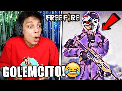¡REACCIONANDO a GOLEMCITO GAMES! 😂 FREE FIRE *épico*