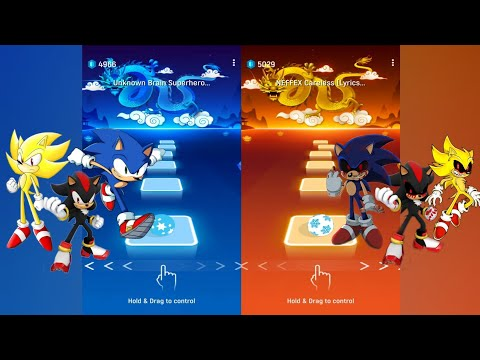 Download Sonic + Shadow + Super Sonic Vs Sonic Exe + Shadow Exe +Super Sonic Exe - Tiles Hop