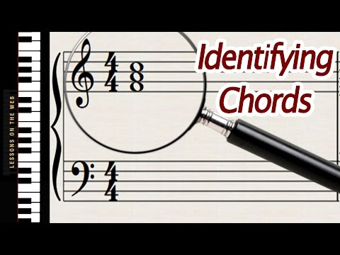 How to Identify Chords Written on Sheet Music - Lesson for Beginners