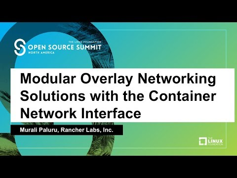 Modular Overlay Networking Solutions with the Container Network Interface - Murali Paluru
