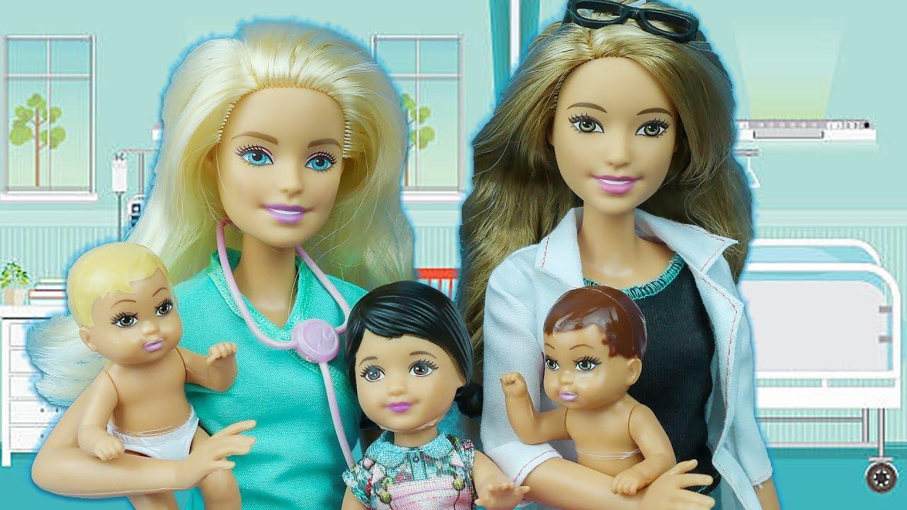 Hemşire Barbie Yeni Doğan Bakım Seti