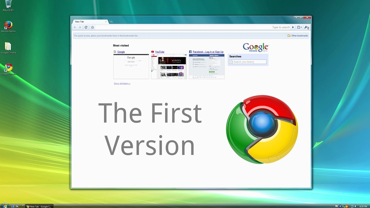 Looking Back At the First Version of Google Chrome
