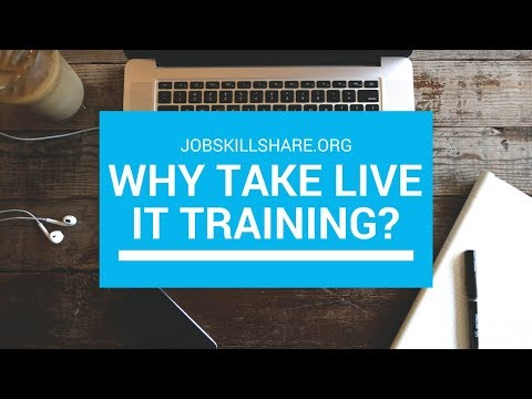 Why LIVE Training?  IT Training Details and How to Enroll