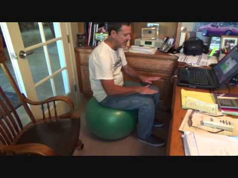 How to use a yoga ball for a desk chair