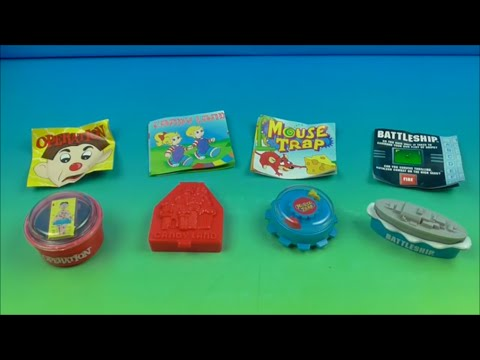 1997 Hardee S Classic Games Set Of 4 Kids Meal Toys Video