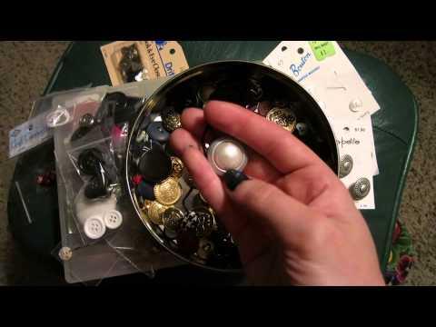 wordless ASMR - buttons & thread (HD ~ 40 mins)