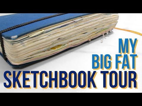 MY BIG FAT SKETCHBOOK TOUR | 2016 - 2017 Sketchbook & Art Journal!