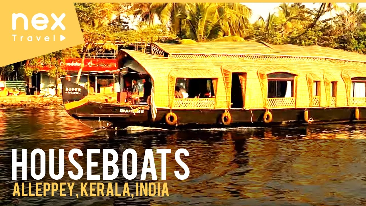 Houseboats In Alleppey Kerala A Beautiful Tourist Places In India Youtube