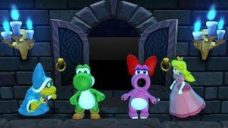 Mario Party 9 Step It Up - Kamek vs Yoshi vs Birdo vs Peach Master Difficulty| Cartoons Mee