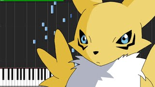 Slash!! - Digimon Tamers [Piano Tutorial] (Synthesia)