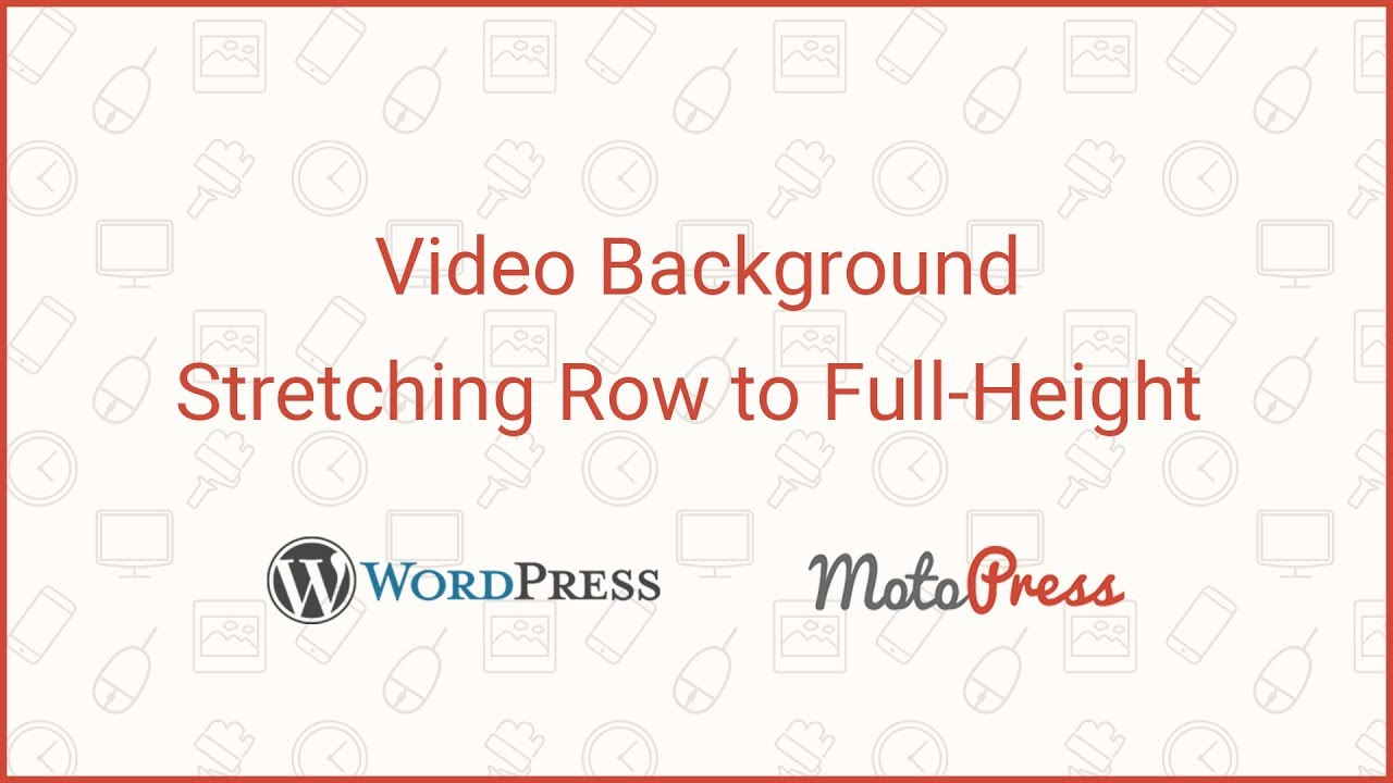 How to create a full-height video background with MotoPress Page Builder