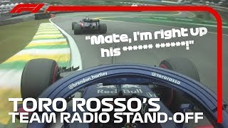 Toro Rosso's Team Radio Stand Off | 2018 Brazilian Grand Prix