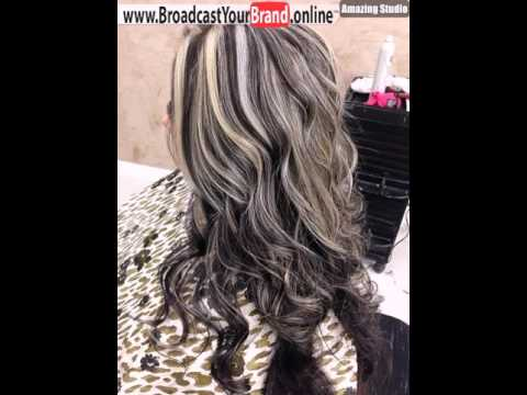 Long Brown Hairstyle With Ash Blonde Highlights Youtube